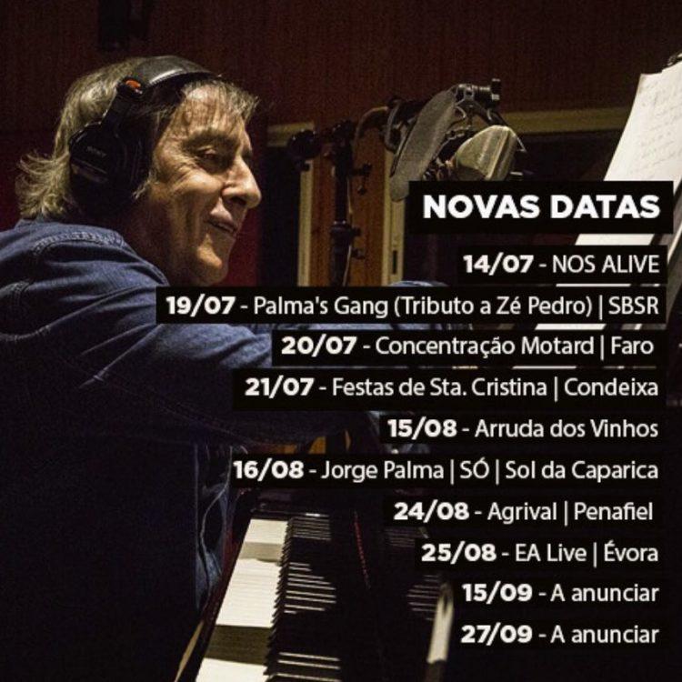 Concertos Jorge Palma, Concertos 2018, Verão, Festivais, Jorge Palma, Artista, concertos, 2018, músicos, portugueses