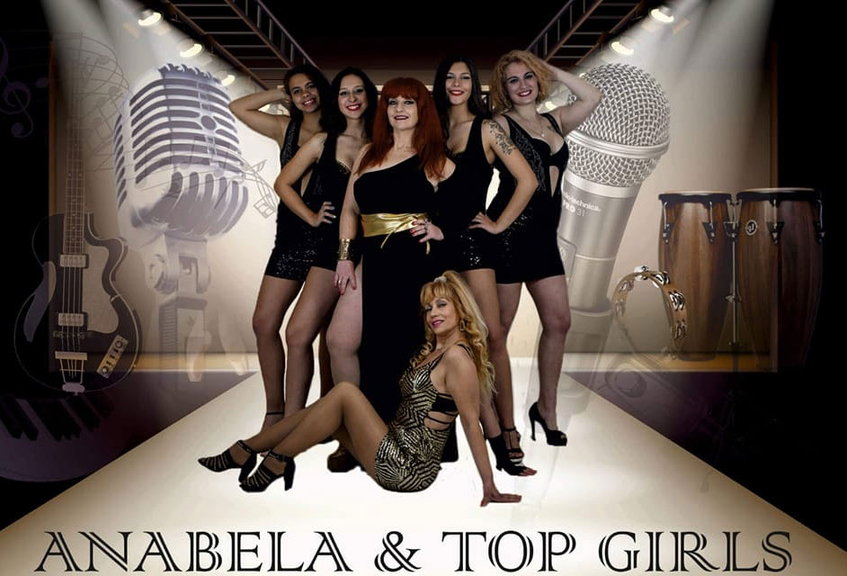 Anabela e as Top Girls, Anabela Beirão e banda, espetáculos, artistas, musica portuguesa, cantoras, Musica, Popular, Portuguesa, contactos, bandas, Banda Feminina, Girls Band